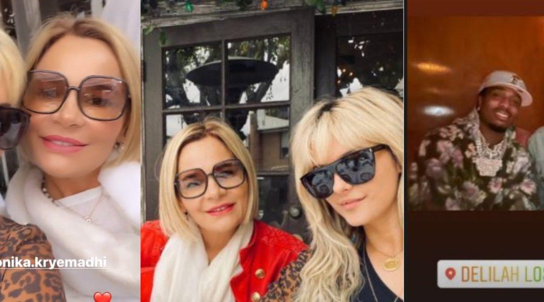Monika Kryemadhi në Los Angeles, takohet me Bebe Rexhën (VIDEO)